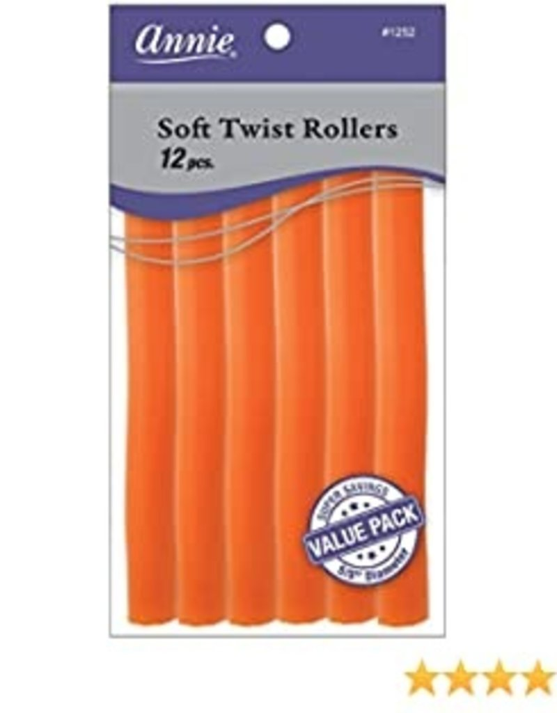 """ANNIE ROLLERS SOFT-TWIST 7""""-ORANGE 5/8"""" 12PC/PK"""