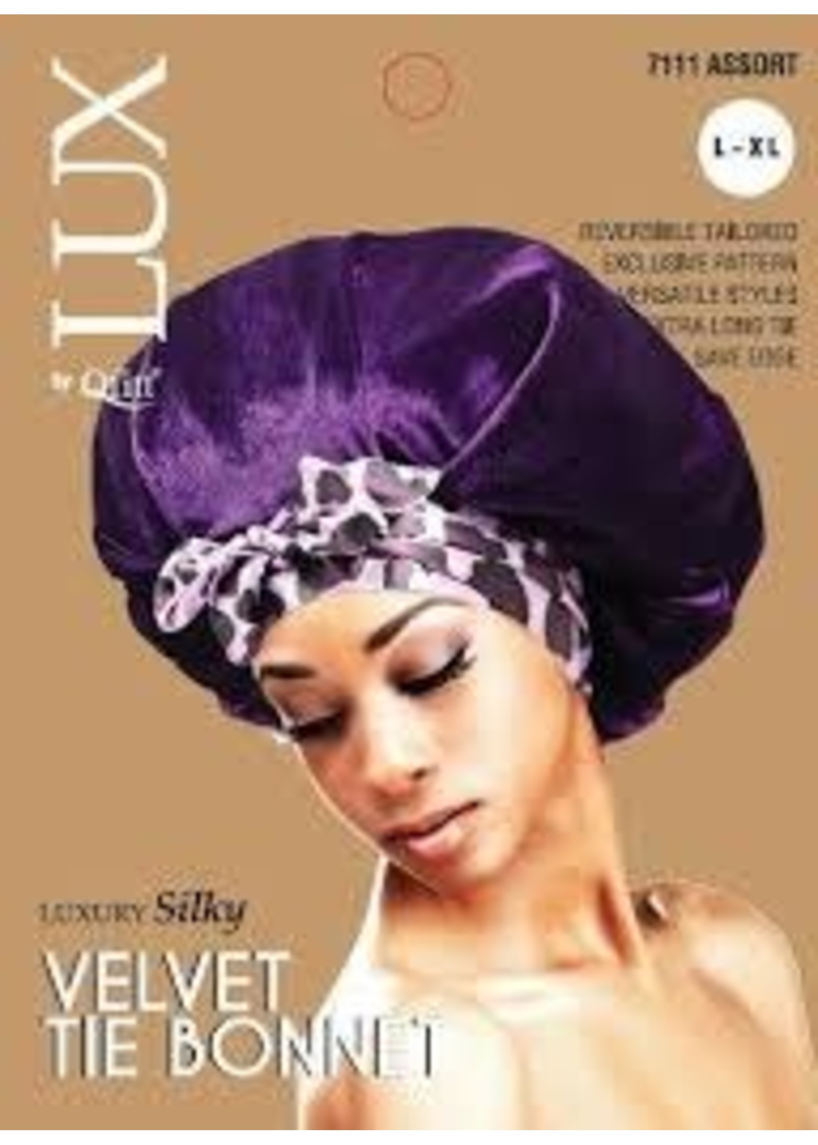 Lux Luxury Silky Velvet Tie Bonnet L-XL