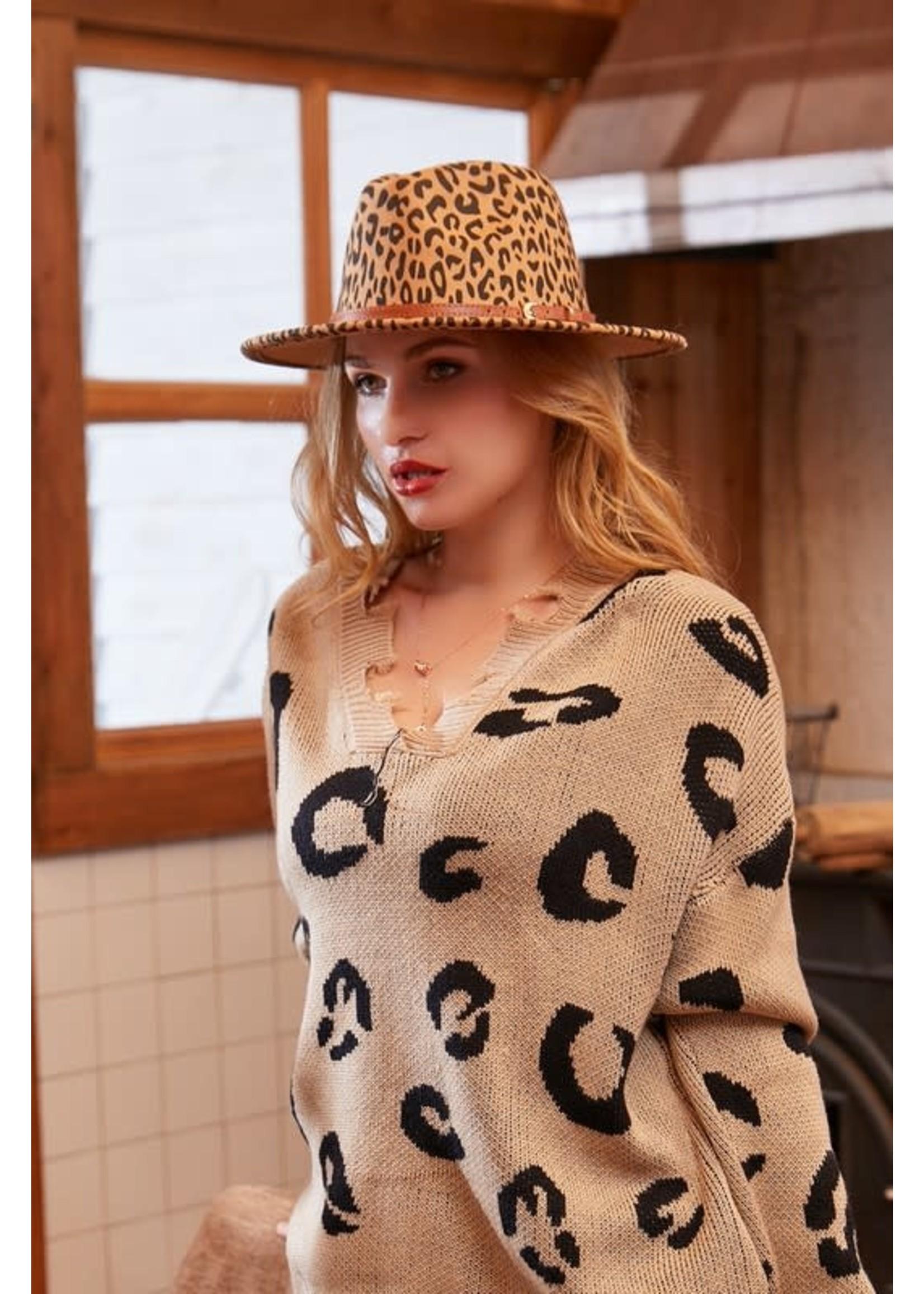 Leopard Belt Buckle Hat