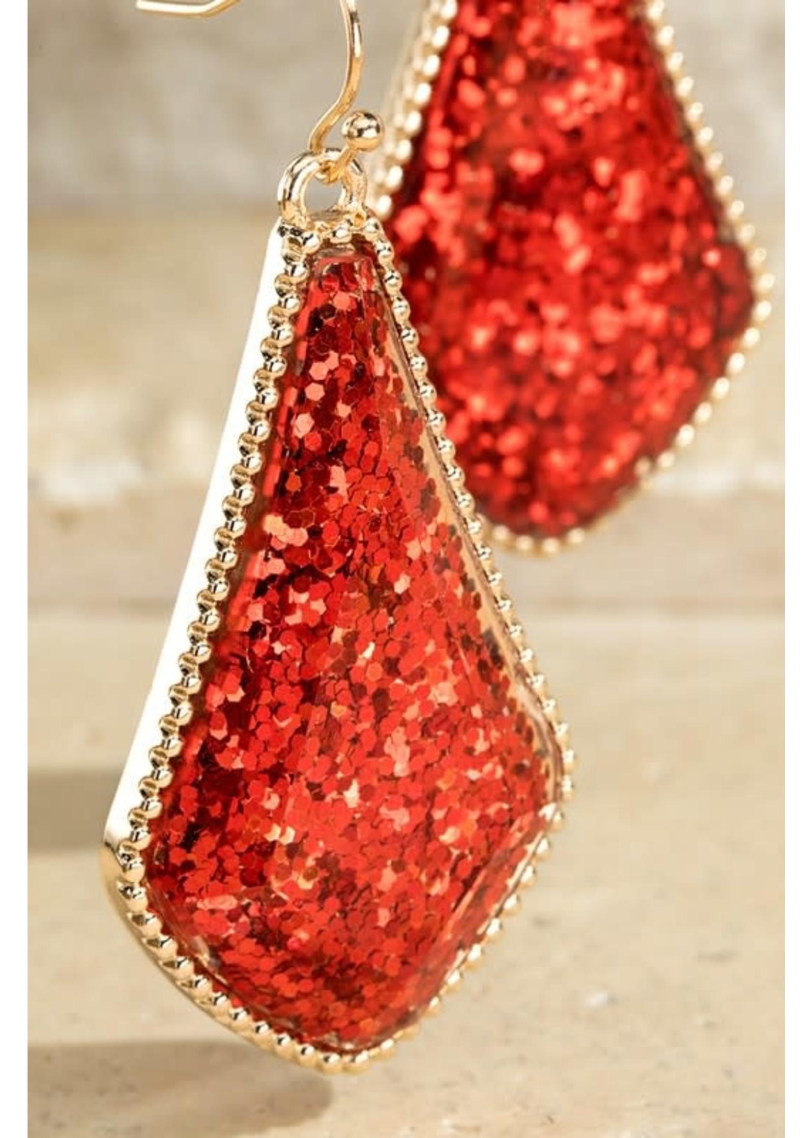 Glittery Marquis Shape Earrings