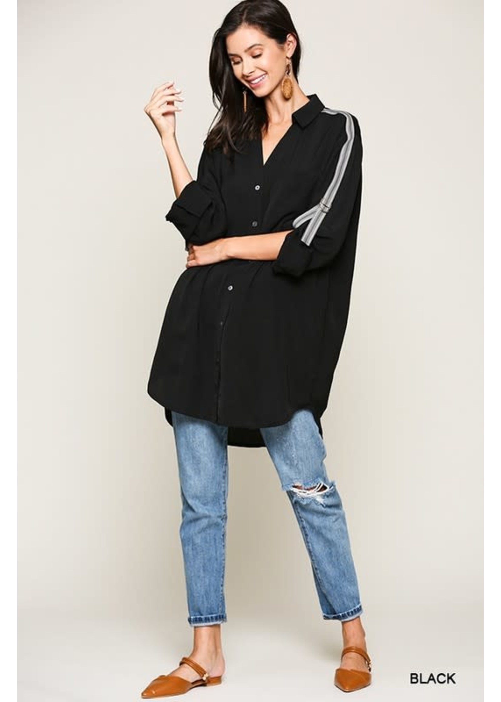 Buttoned Down Tunic Top
