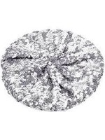 Silver Sequin Beret