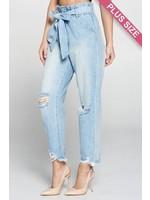 Paperbag Mom Jeans (Plus)