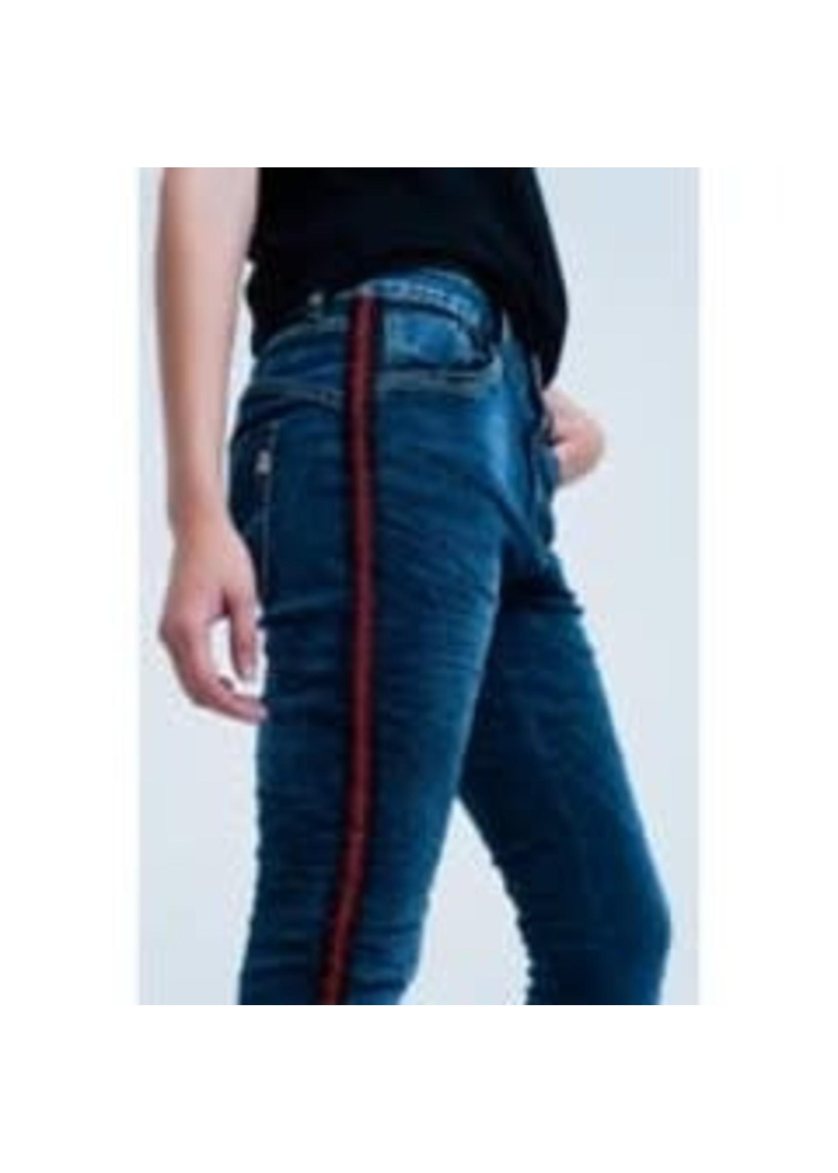 Boyfriend Jeans w/Red Sideband