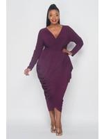 Purple Overlap Dress