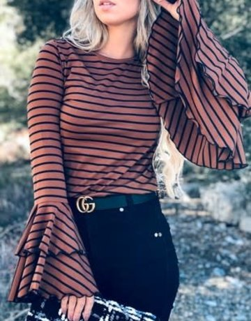 Double Bell Sleeve Top
