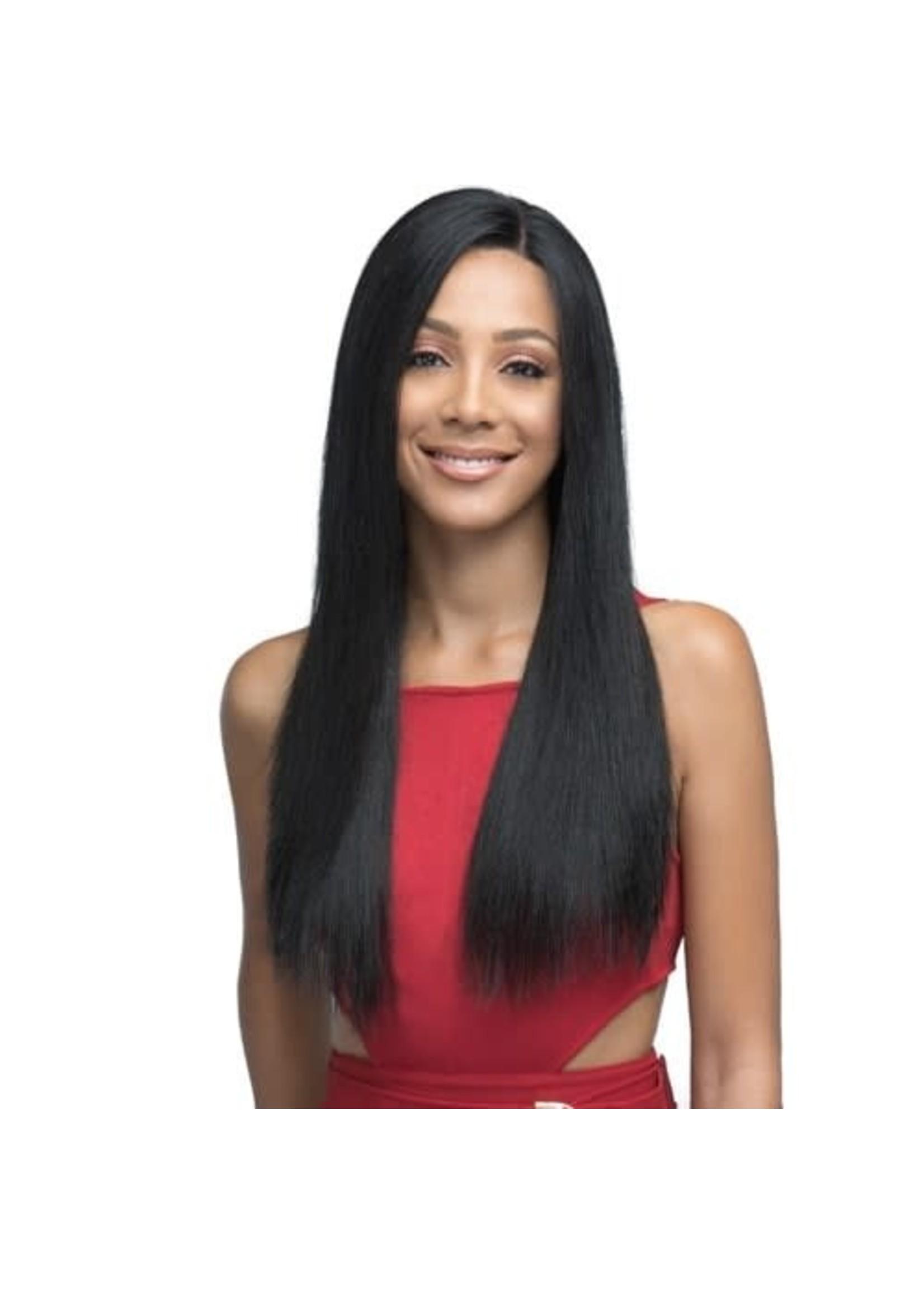 Bobbi Boss Lace Front Human Hair Wig IndiRemi 13x4 Natural Straight