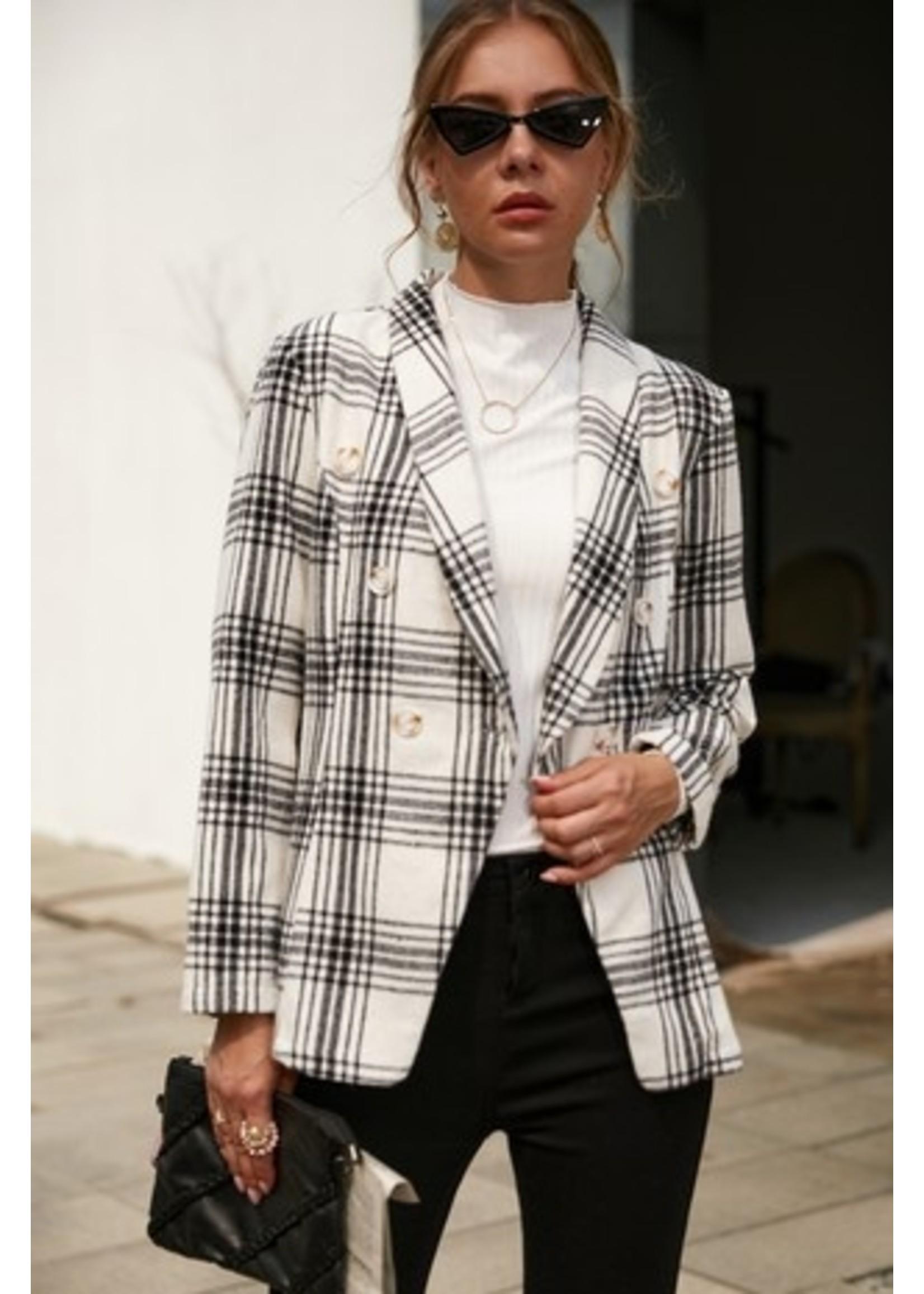 Double Breast Jacket- White