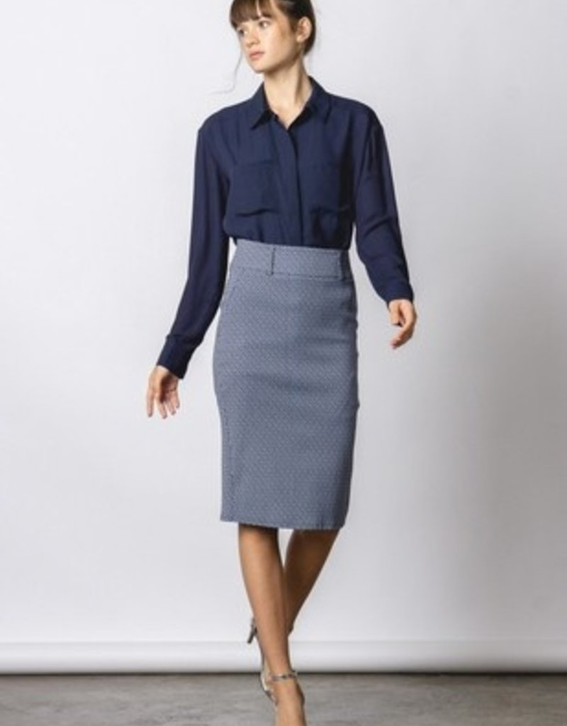 Office Pencil Skirt- Black