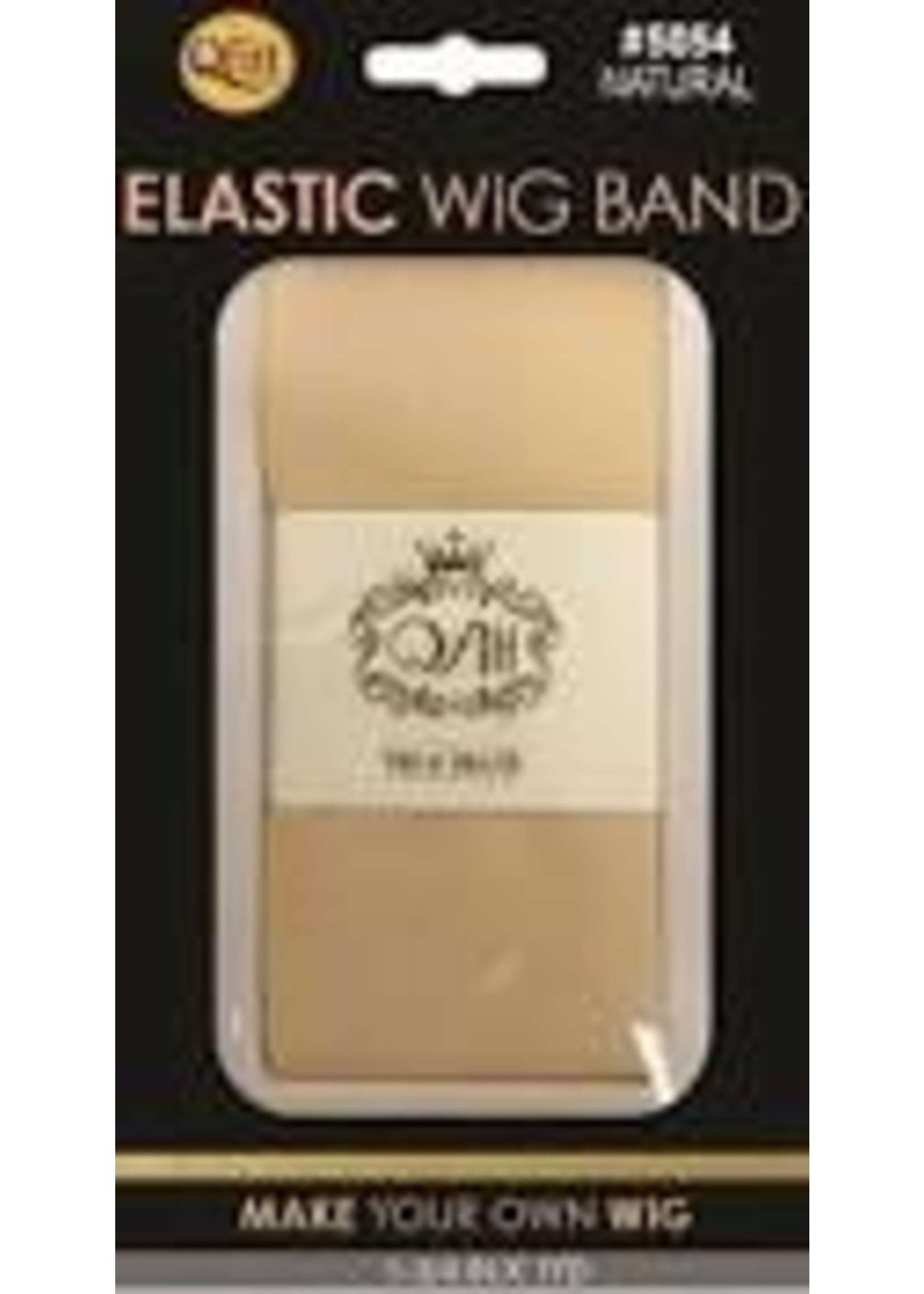 Elastic Wig Band Beige Wide