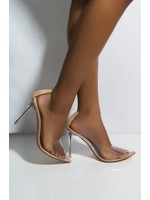 Show Stopper Clear Heels