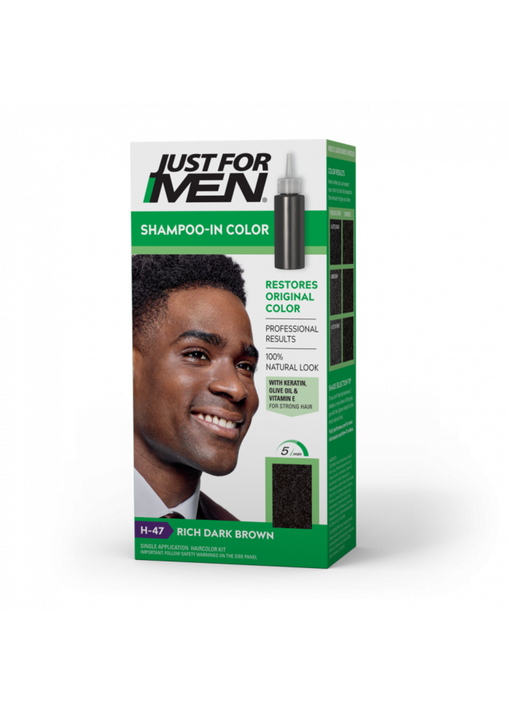 Just For Men Shampoo In Color Rich Dark Brown