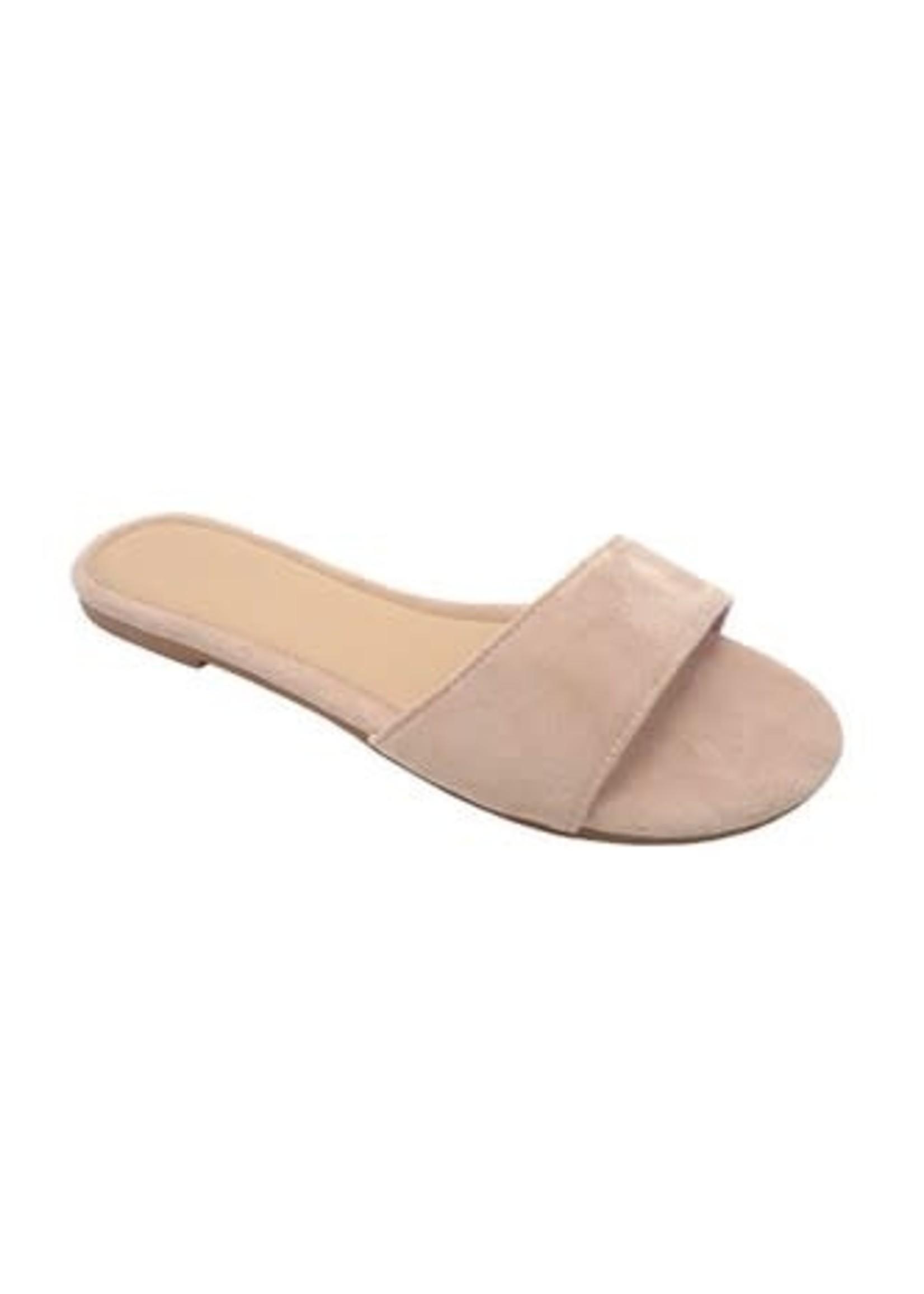 Nude Slip-On Sandals