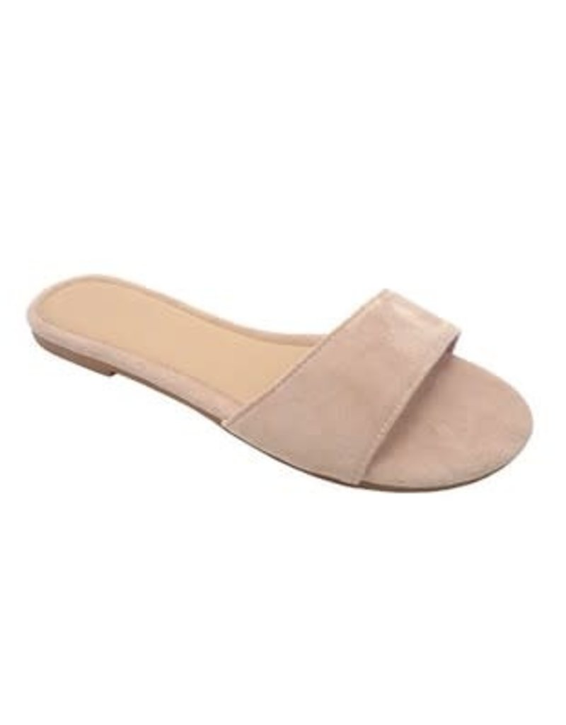 Nude Slip-On Sandals