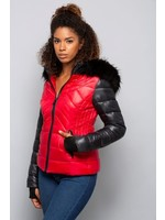 Red Hooded Jacket
