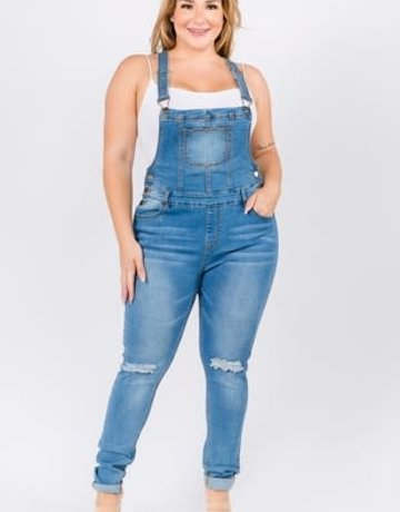 Denim Overalls Plus