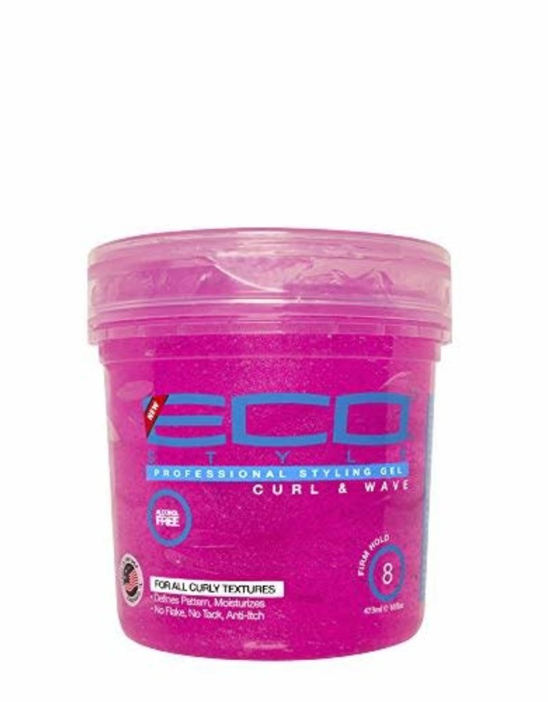 ECO STYLING GEL PINK [CURL&WAVE] 24oz