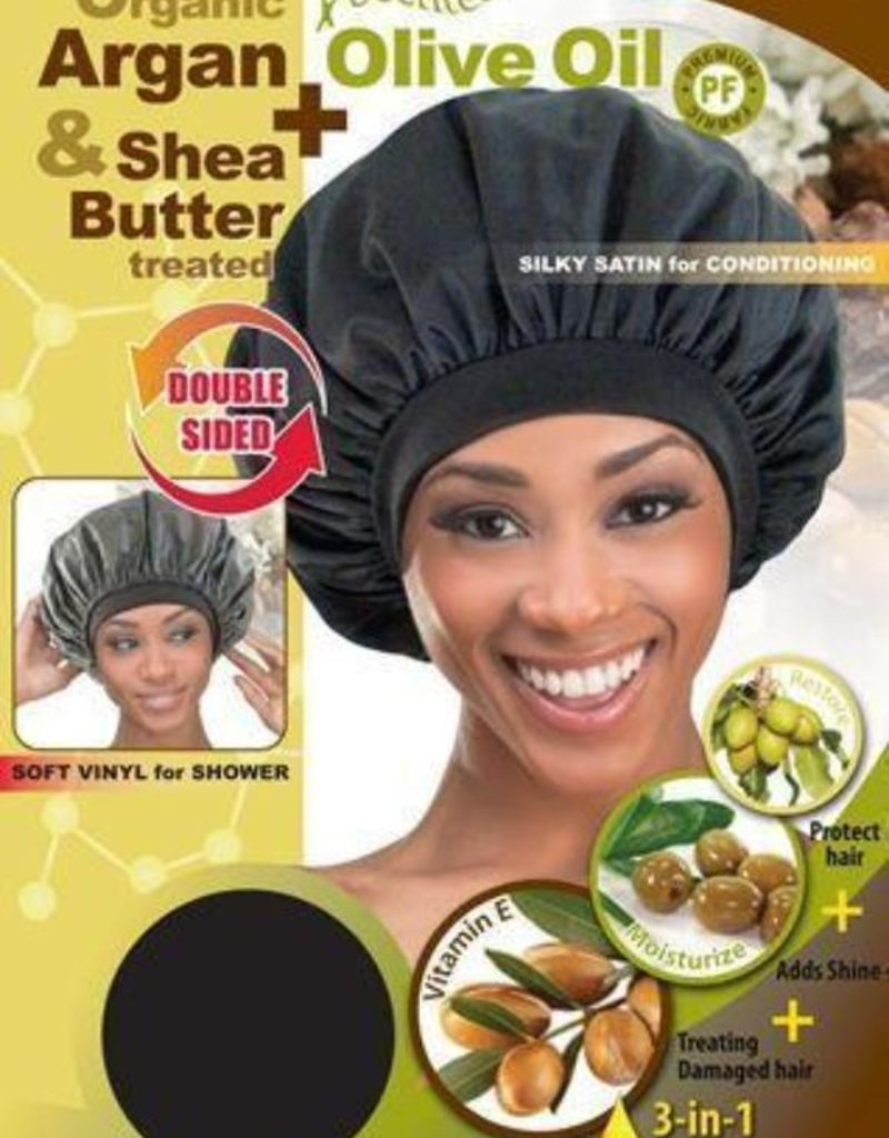 Delux Shower and Conditioning Cap- Black