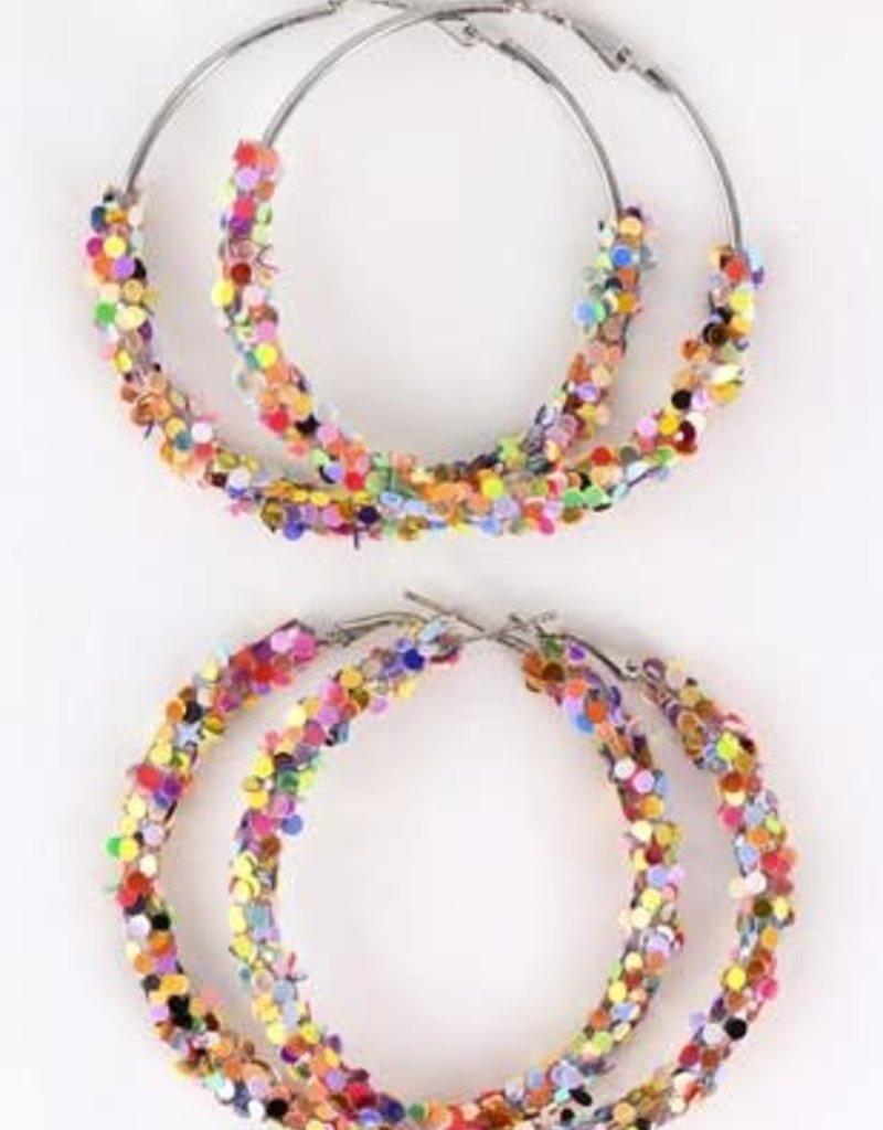 Multicolor Sequin Earrings