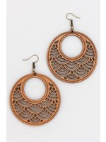 Wood Earrings Dangle