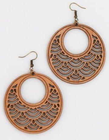 Wood Earrings Dangle