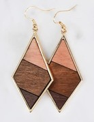 A little Pop Wood Earrings