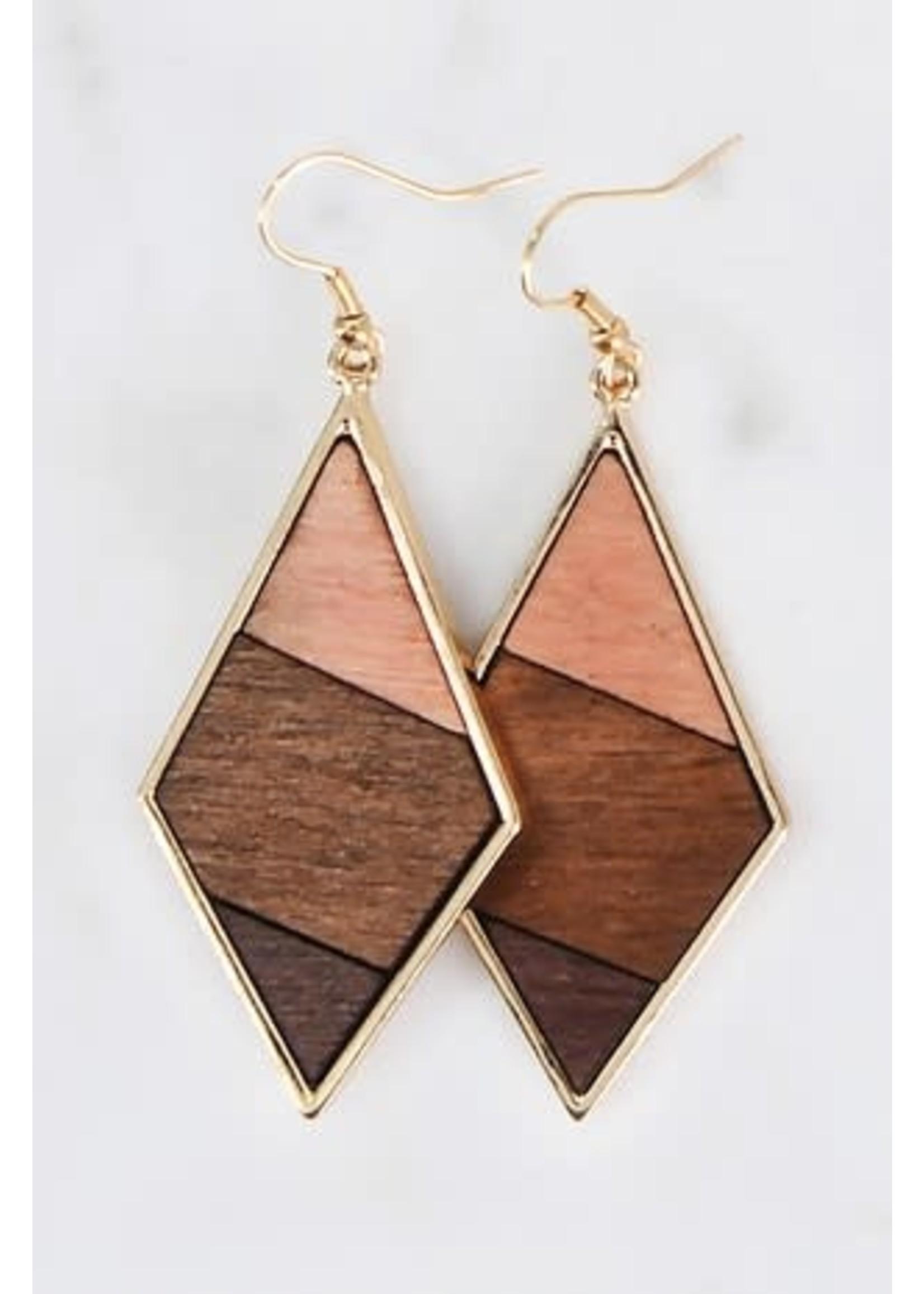 A little Pop Wood Earrings