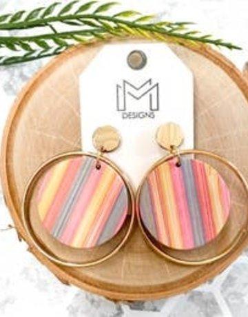 Pastel Wood Earrings