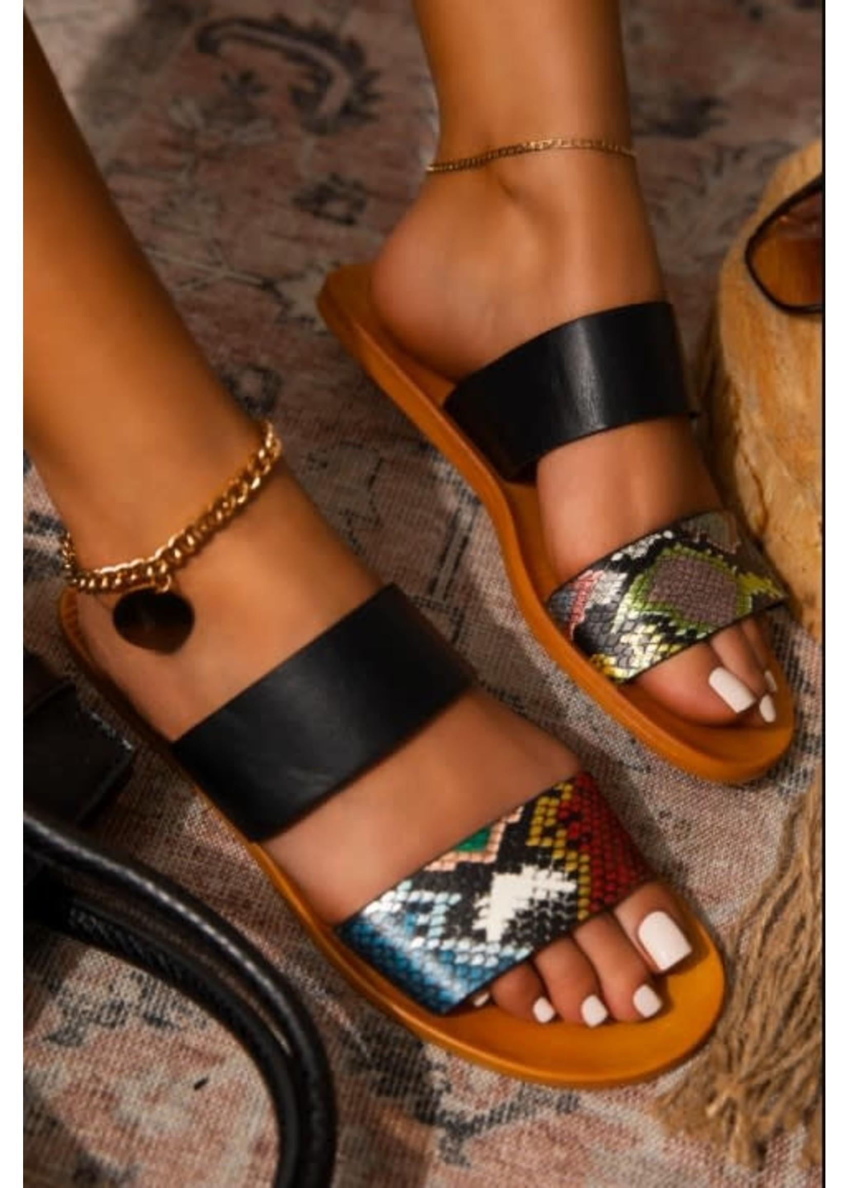 Animal Skin Slipper Sandal
