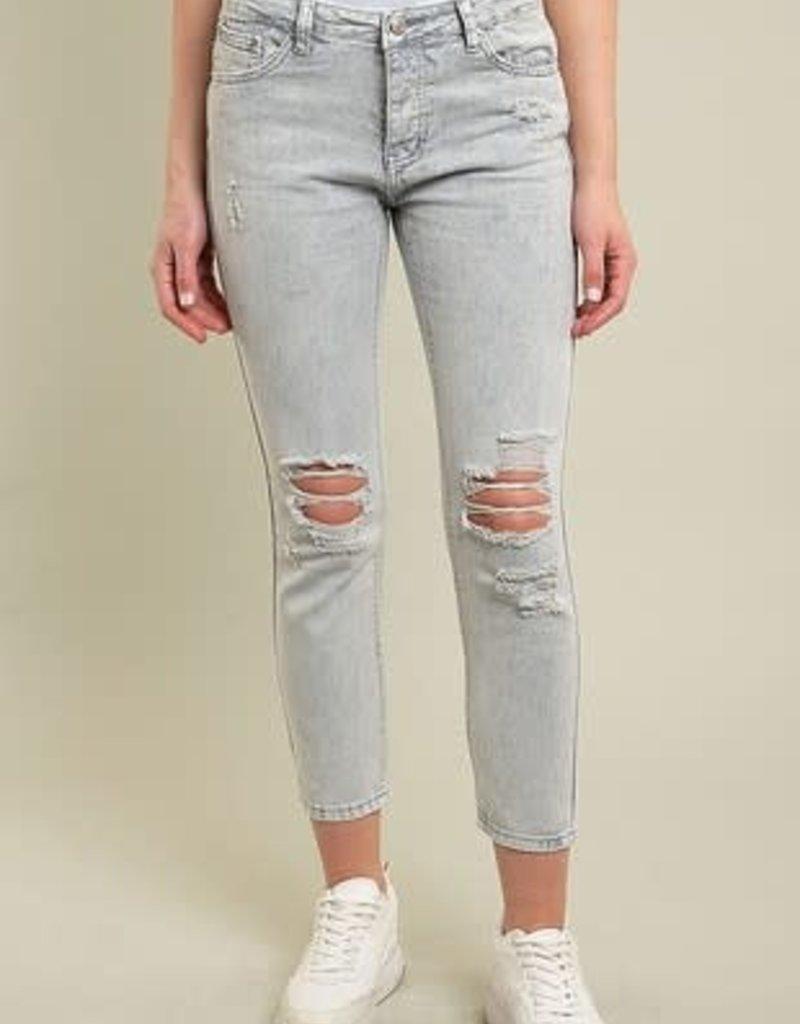 Distressed Grey Skinny Jeans