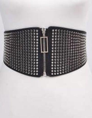 Black & Silver Wide Belt