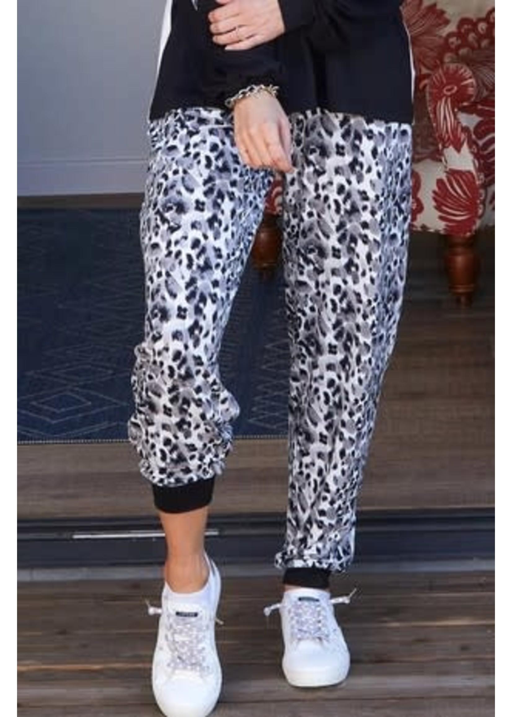Black & White Jogger Pants