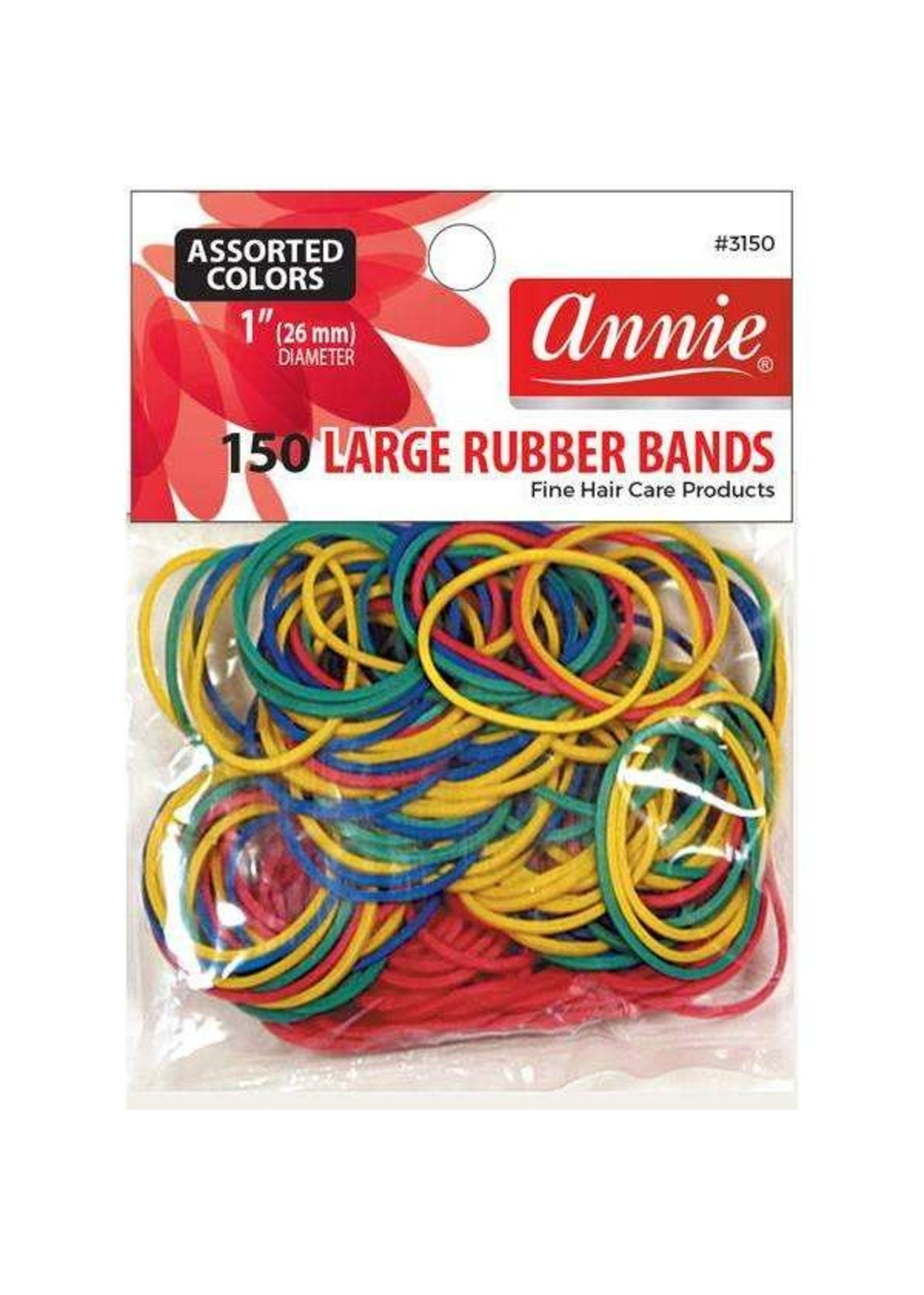Annie Rubber Bands 150ct Assorted