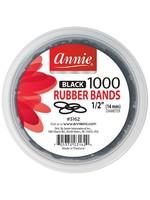 Annie Rubber Bands Black 1000pc