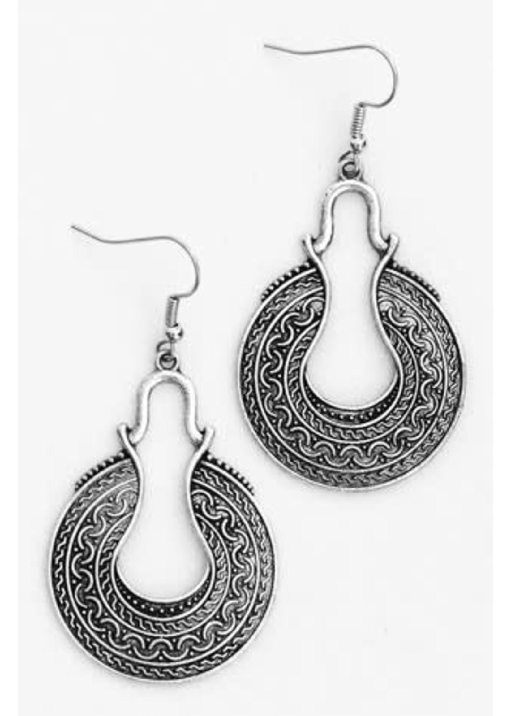 Embossed Metal Earrings