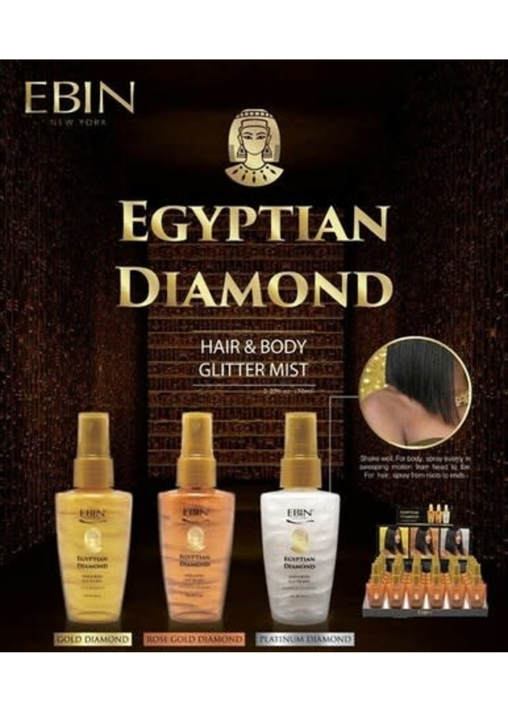 Ebin Egyptian Diamond Hair & Body Glitter Mist