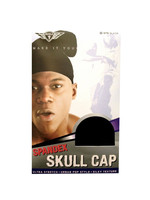 Skull Cap Spandex Black