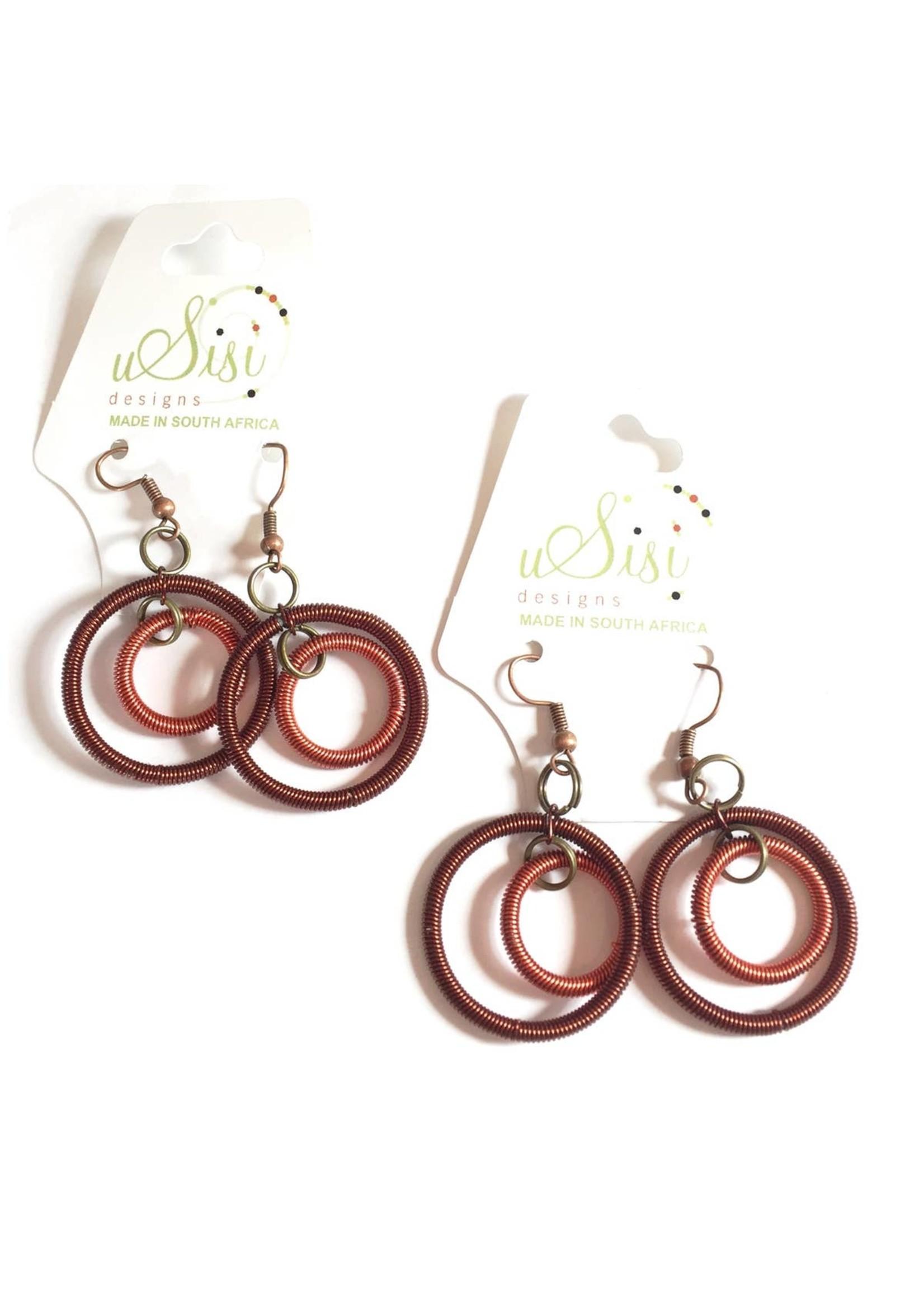 Copper Double Hoop Earrings