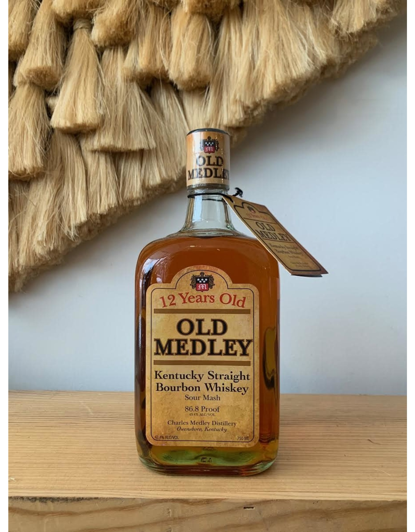 "Charles Medley Distillery ""Old Medley"" 12 year Boubon"