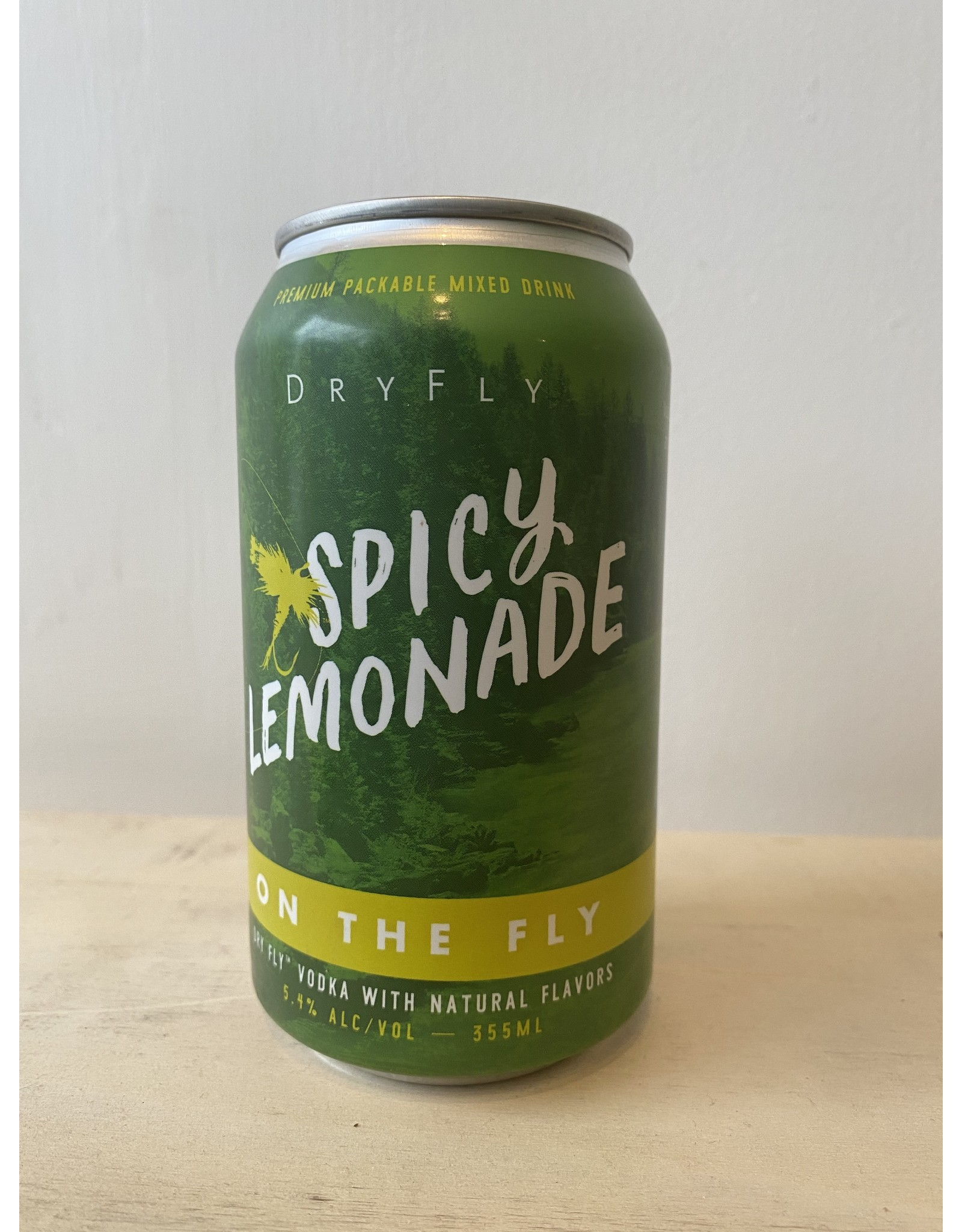 """Dry Fly Distilling """"On The Fly"""" Spicy Lemonade Cocktail Can"""