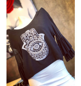 Rock n' Karma Past Hamsa Top