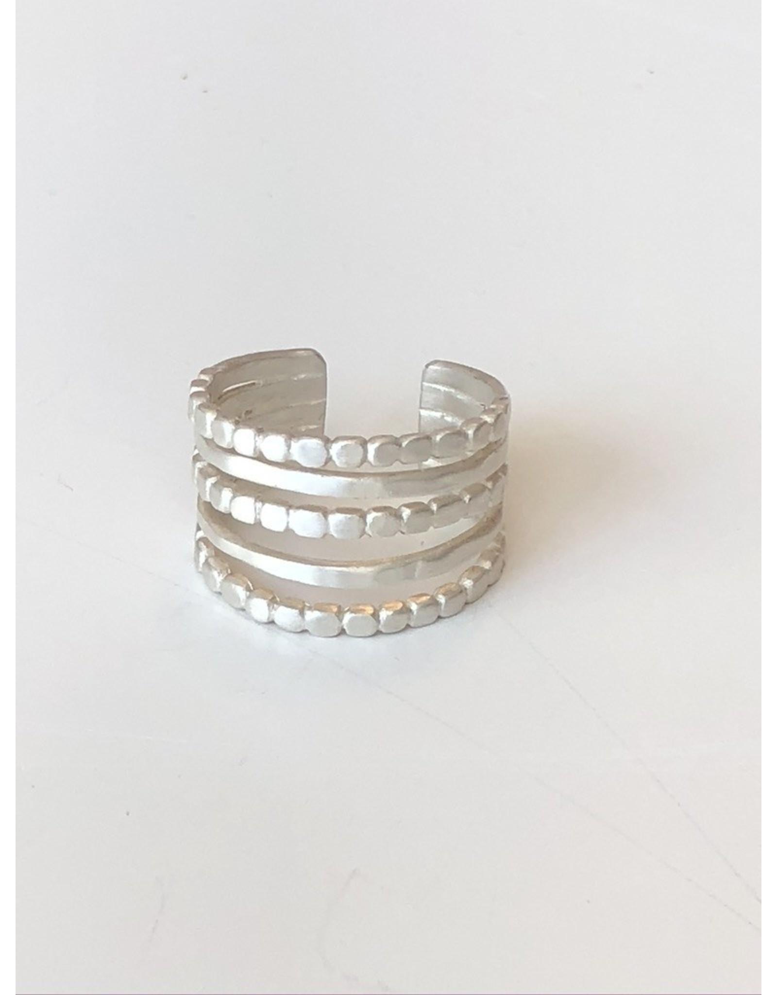 Susi Cala Jewelery Fivefold Misha Ring Silver