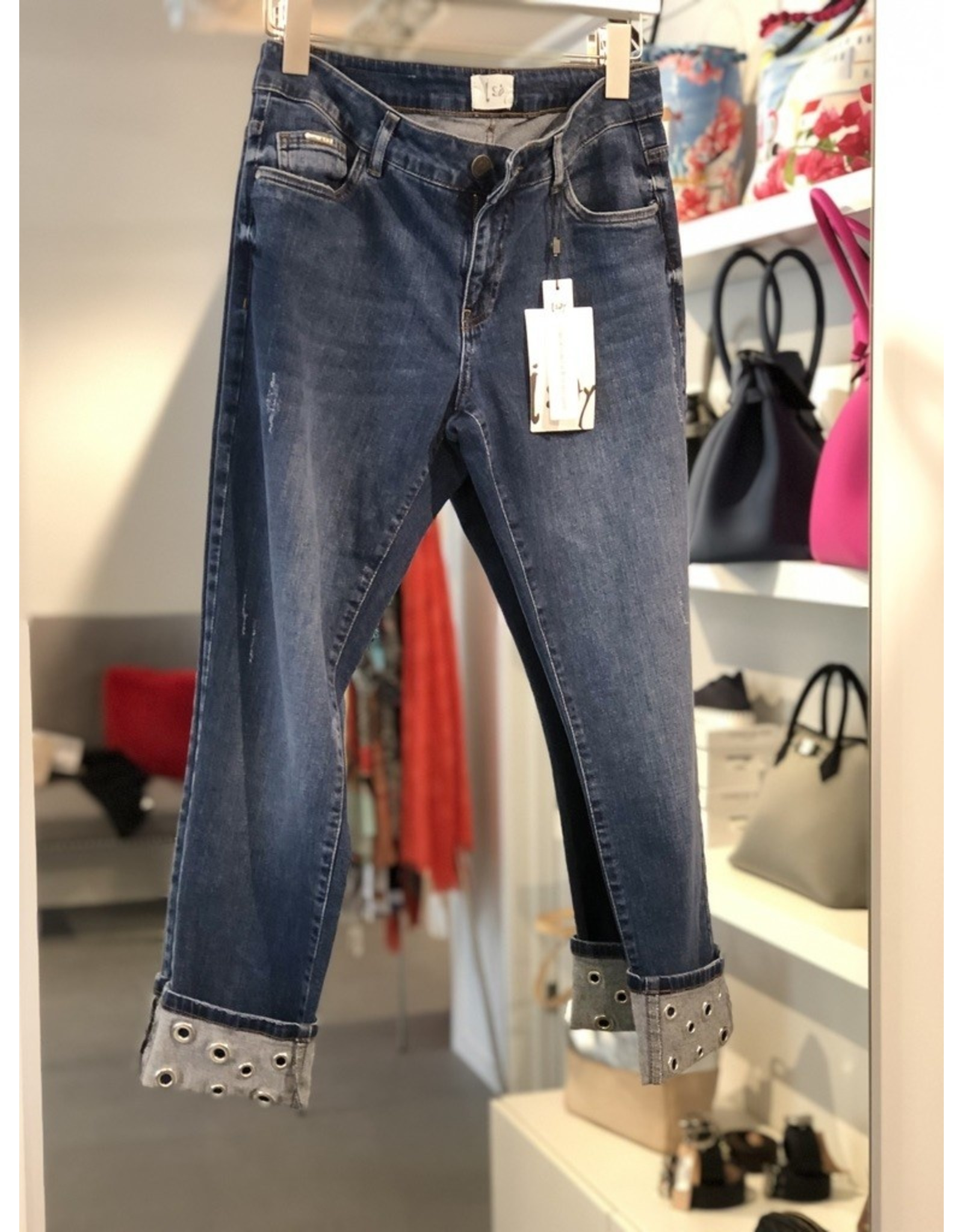 ISay Lucca Eyelet Jean