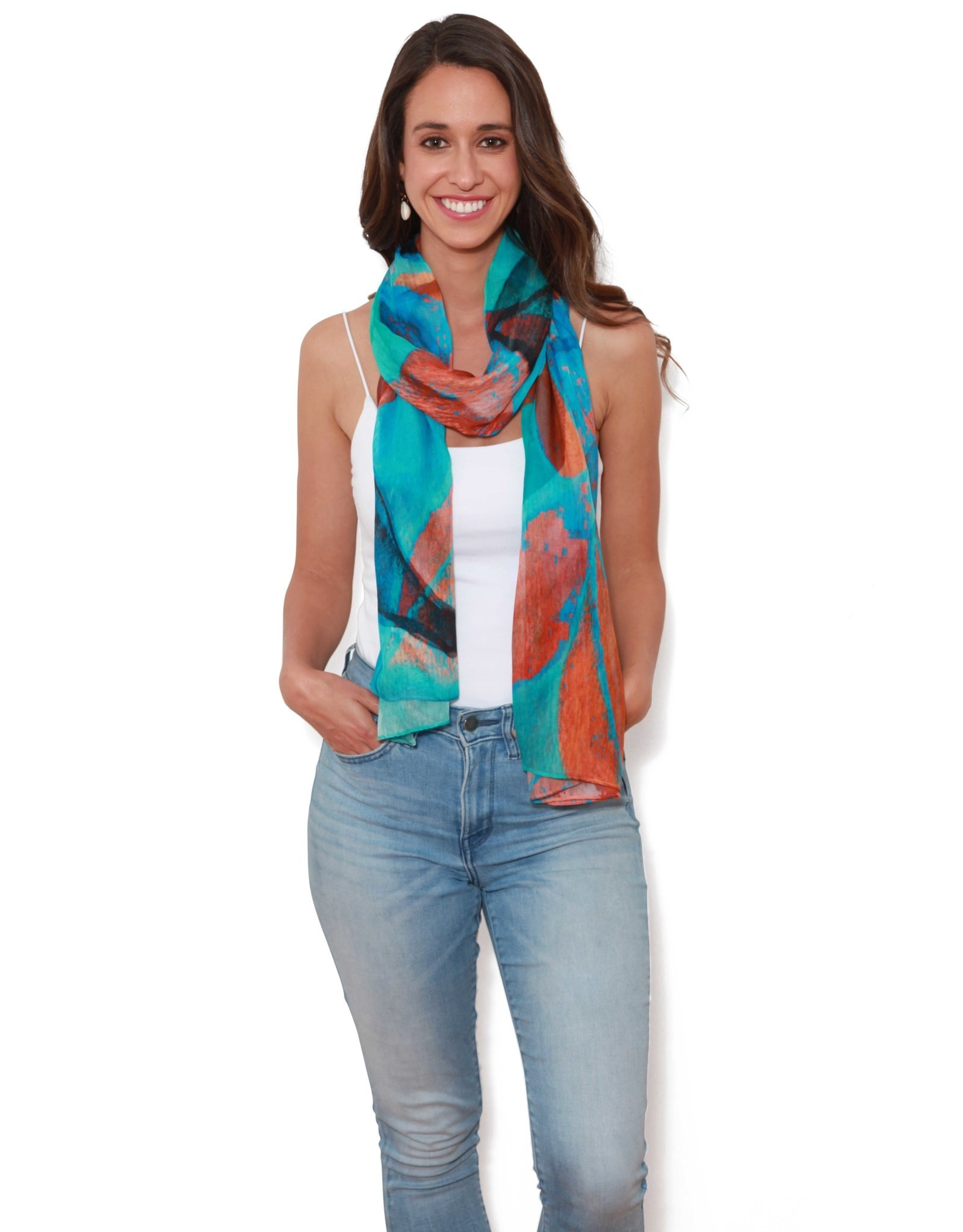 The Artists Label Turquoise Dream Scarf
