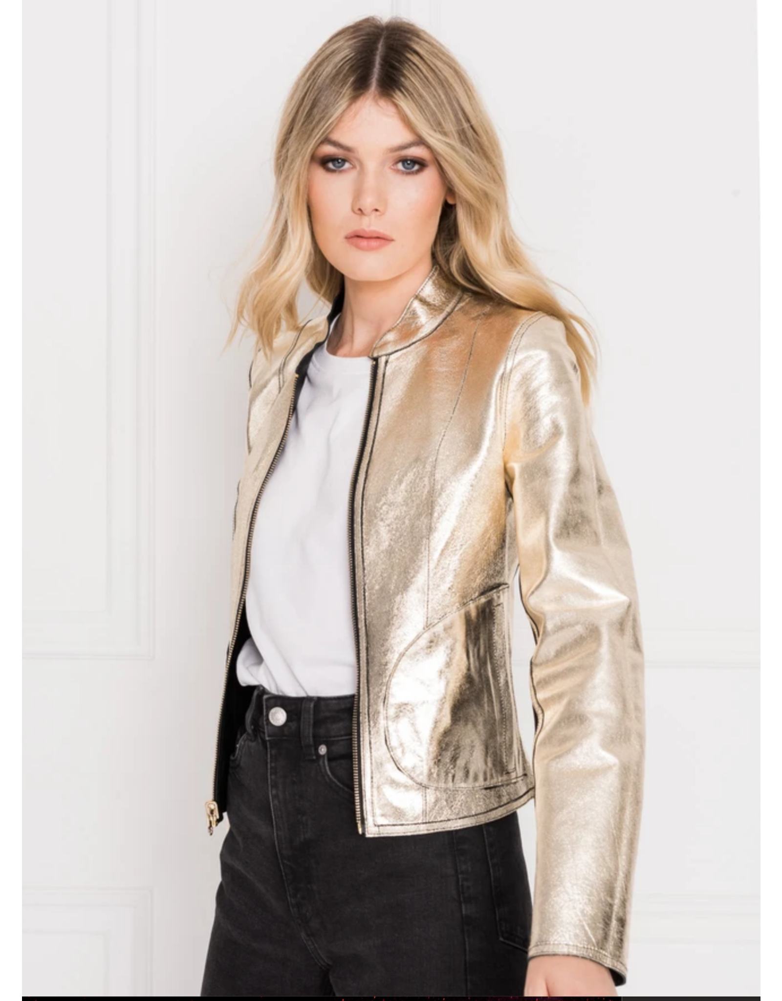 LaMarque Chapin Leather Bomber Jacket