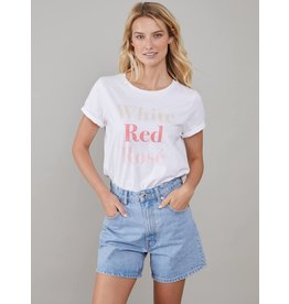 South Parade White/Red/Rose T-shirt