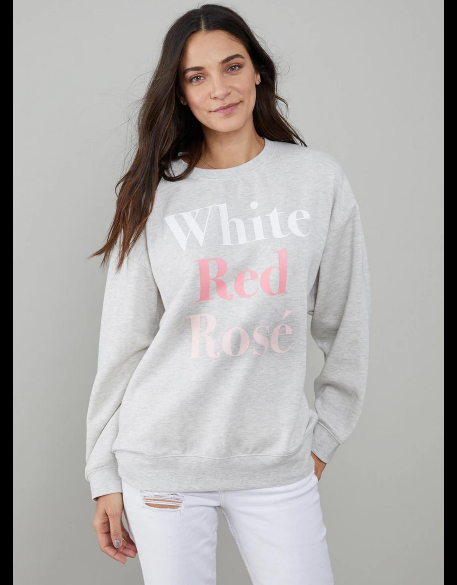 South Parade White/Red/Rose Sweatshirt