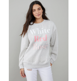 South Parade White/Red/Rose Sweatshirt