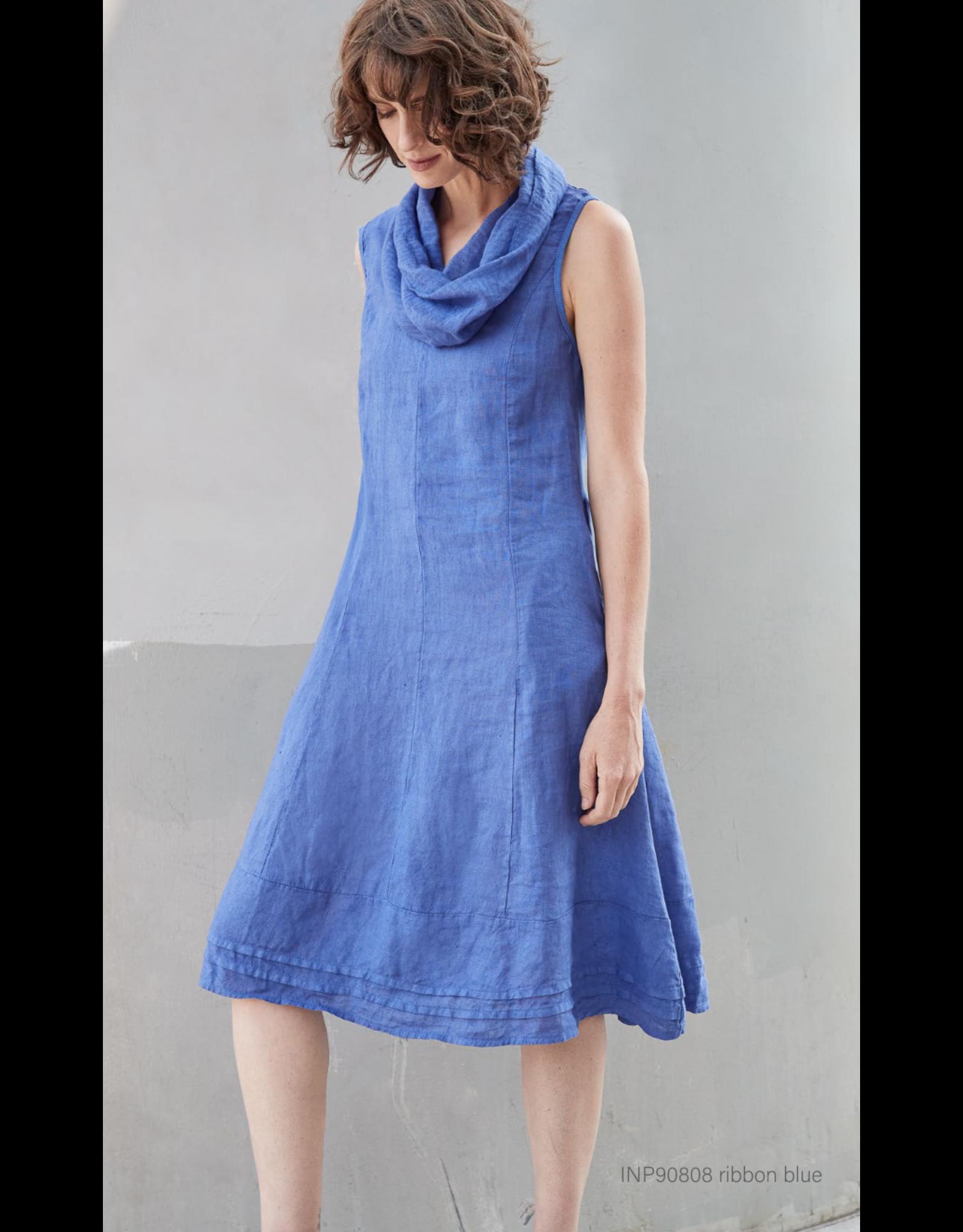 Inizio Unique Collar Linen Dress