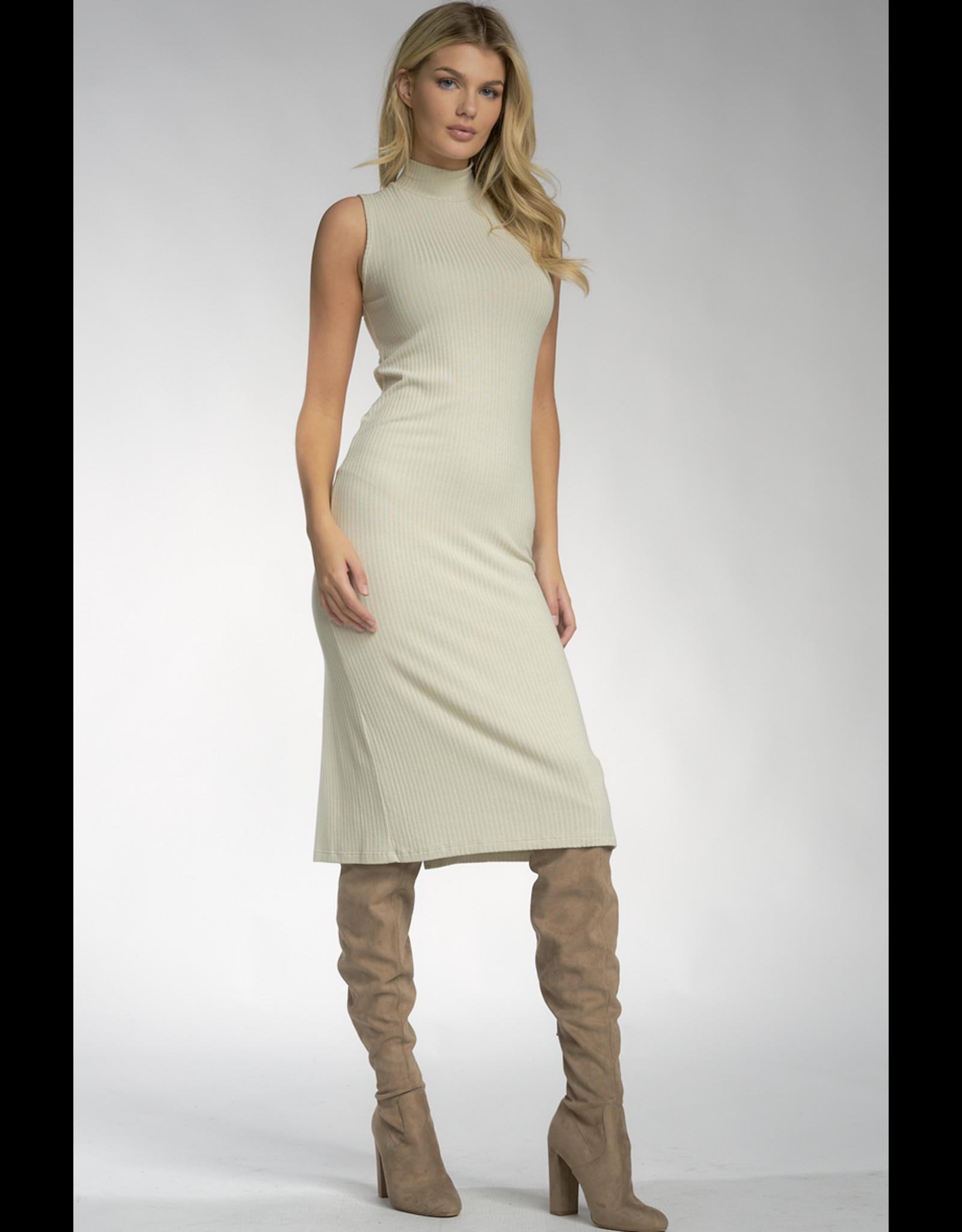Elan Sleeveless Mock Neck Dress